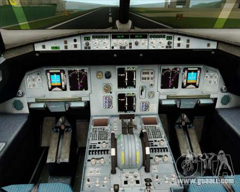 Airbus A320-200 Jet Airways for GTA San Andreas interior