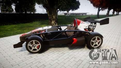 Ariel Atom V8 2010 [RIV] v1.1 Rosso & Bianco for GTA 4 left view