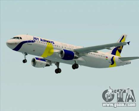 Airbus A320-200 Jet Airways for GTA San Andreas side view