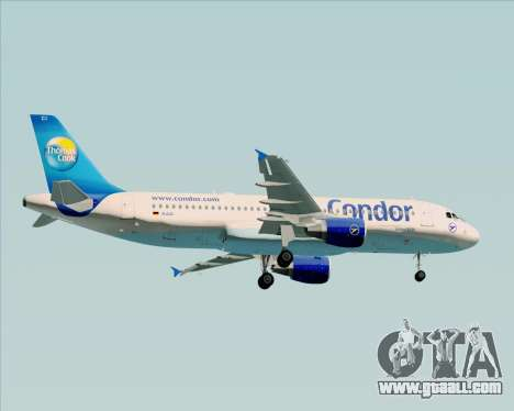 Airbus A320-200 Condor for GTA San Andreas back view