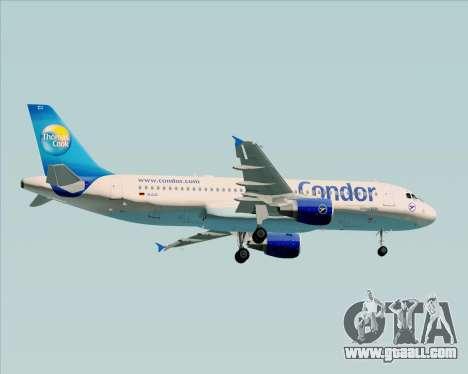 Airbus A320-200 Condor for GTA San Andreas back view