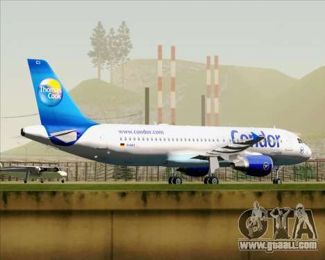Airbus A320-200 Condor for GTA San Andreas inner view