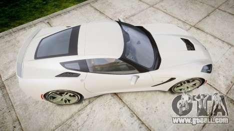 Chevrolet Corvette C7 Stingray 2014 v2.0 TireYA1 for GTA 4 right view