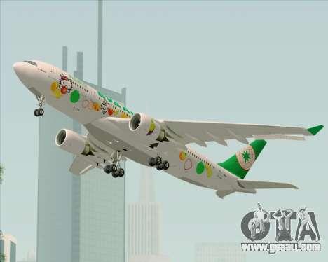 Airbus A330-200 EVA Air (Hello Kitty) for GTA San Andreas inner view