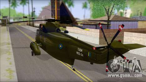 Helicopter Nuri Malaysia Mod (Seaking) for GTA San Andreas left view