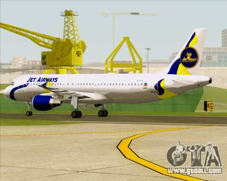 Airbus A320-200 Jet Airways for GTA San Andreas upper view