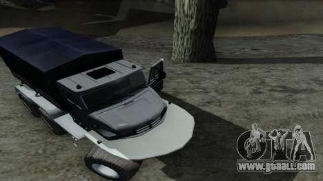 ZIL Kerzhak 6x6 for GTA San Andreas inner view