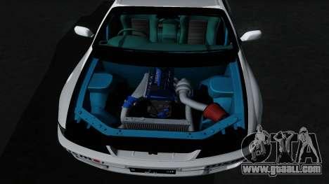 Nissan Skyline GT-R33 for GTA San Andreas bottom view