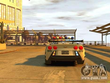 Chevrolet Corvette Z06 Police for GTA 4 right view