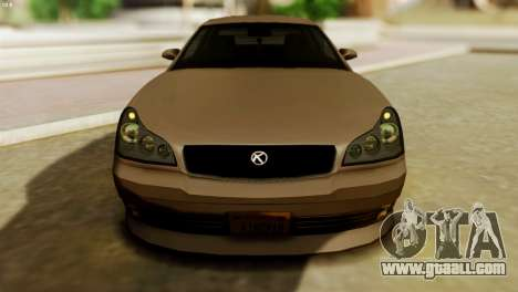 GTA 5 Intruder Tuning Bumpers for GTA San Andreas back left view