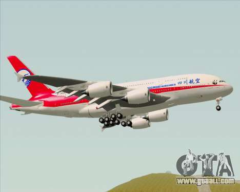 Airbus A380-800 Sichuan Airlines for GTA San Andreas back view
