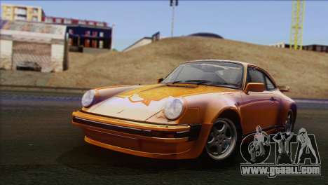 Porsche 911 Turbo 1982 Tunable KIT C PJ for GTA San Andreas
