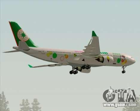 Airbus A330-200 EVA Air (Hello Kitty) for GTA San Andreas upper view