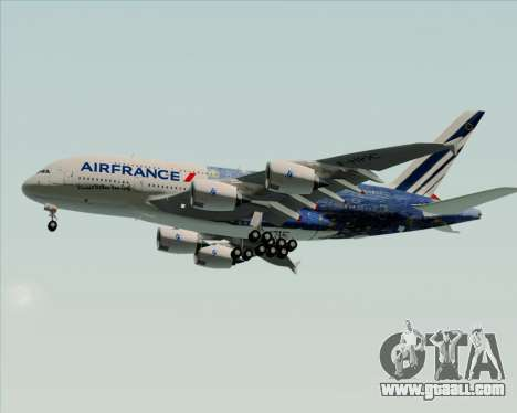 Airbus A380-800 Air France for GTA San Andreas upper view