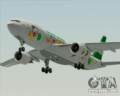 Airbus A330-200 EVA Air (Hello Kitty) for GTA San Andreas engine