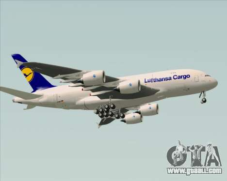 Airbus A380-800F Lufthansa Cargo for GTA San Andreas back view