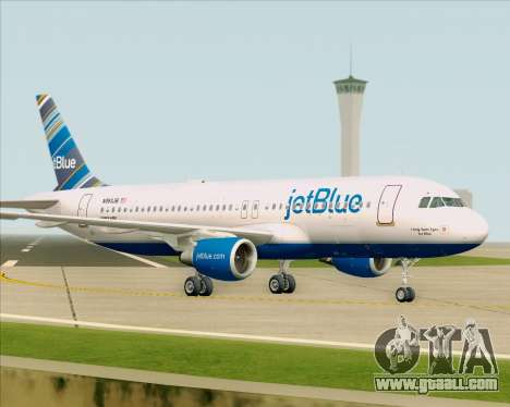 Airbus A320-200 JetBlue Airways for GTA San Andreas upper view