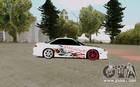 Nissan Silvia S14 VCDT for GTA San Andreas back left view