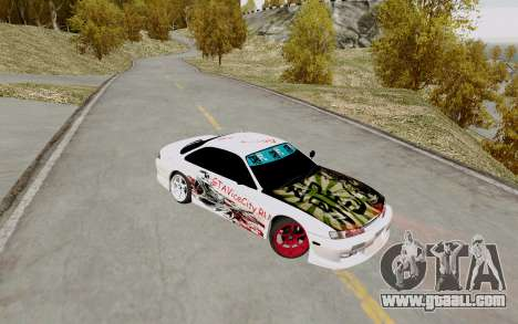 Nissan Silvia S14 VCDT for GTA San Andreas back view