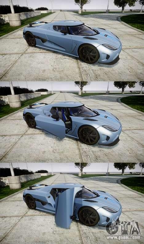 Koenigsegg Agera 2011 [EPM] [Update] for GTA 4 side view