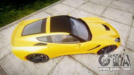 Chevrolet Corvette C7 Stingray 2014 v2.0 TireCon for GTA 4 right view