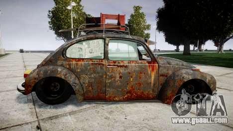 Volkswagen Beetle rust for GTA 4 left view