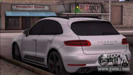Porsche Macan for GTA San Andreas back left view