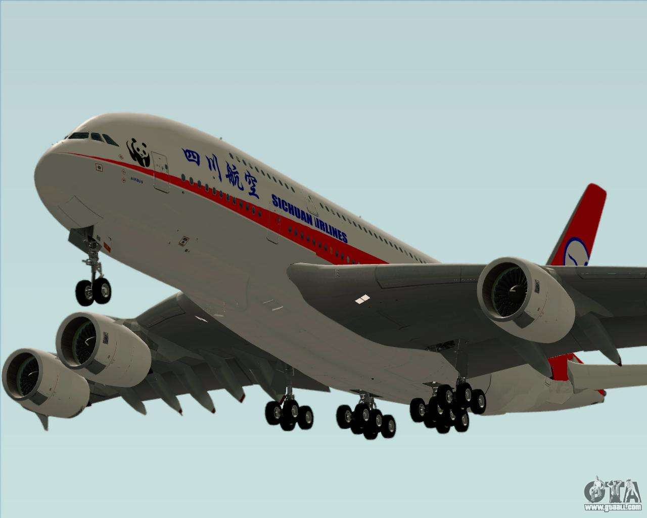 Airbus A380 800 Sichuan Airlines For Gta San Andreas