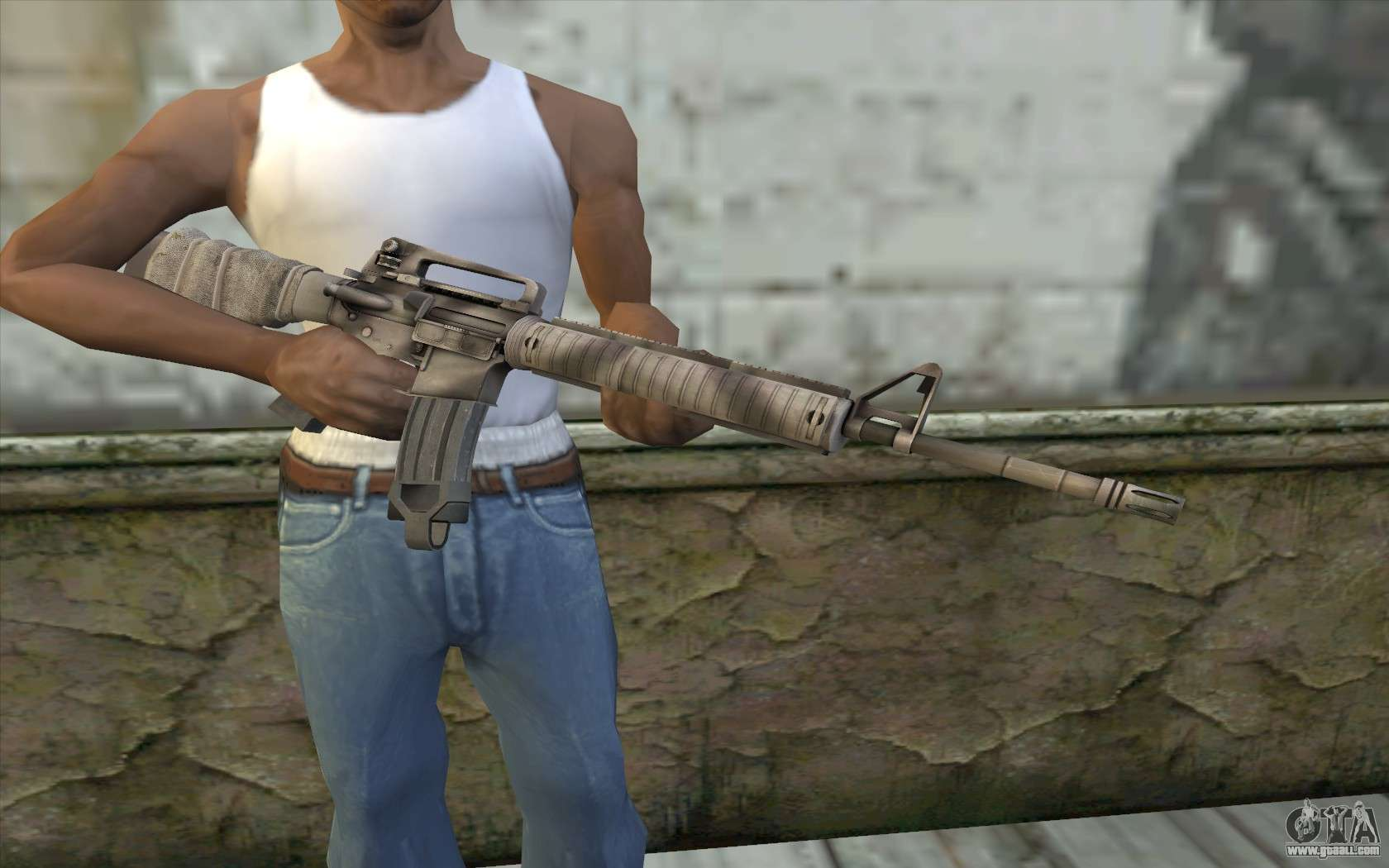 M16A4 from Battlefield 3 for GTA San Andreas M16a4 Bf3