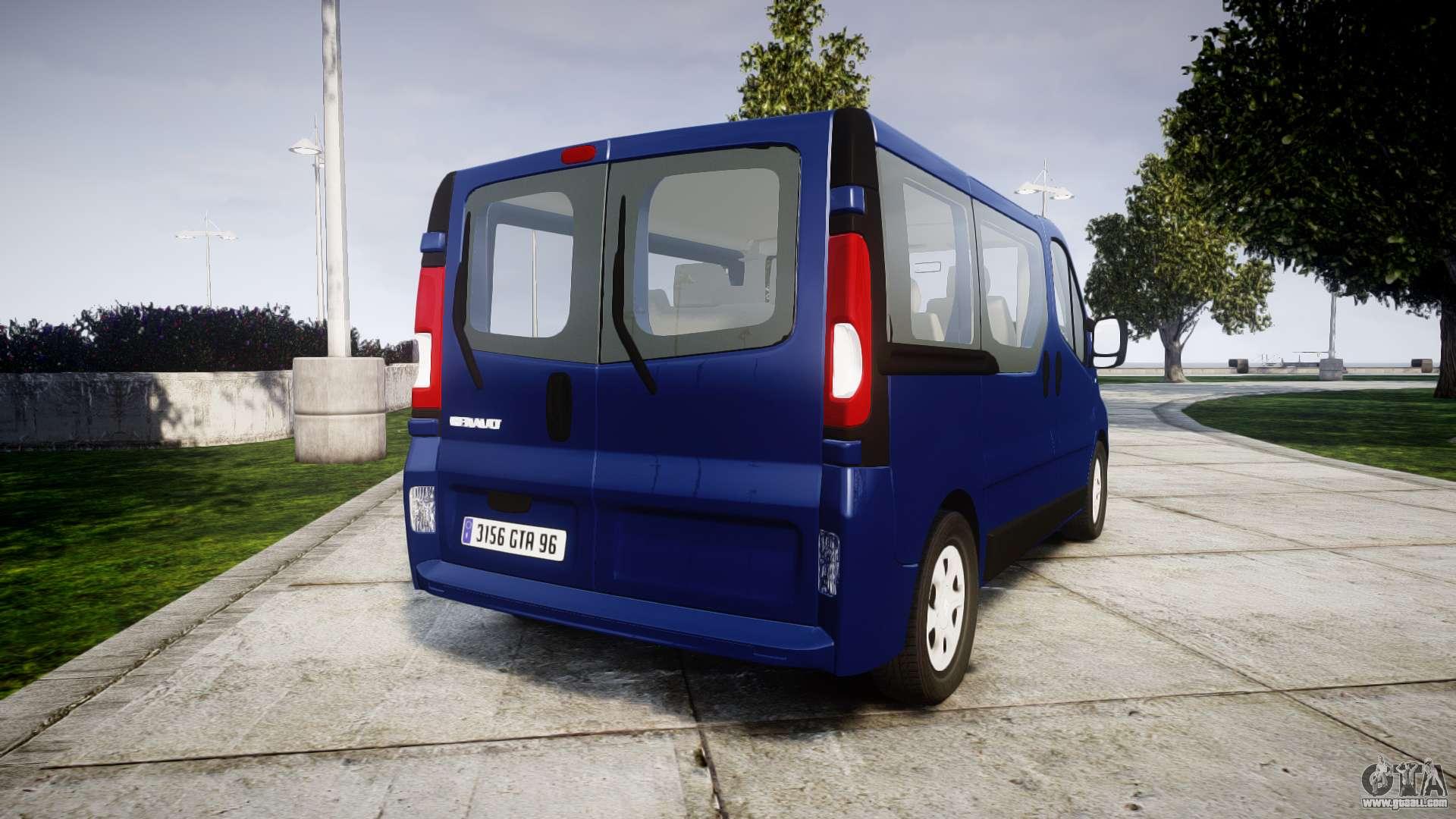 renault trafic passenger for gta 4. Black Bedroom Furniture Sets. Home Design Ideas