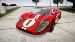 Ford GT40 Mark IV 1967 PJ 1 for GTA 4
