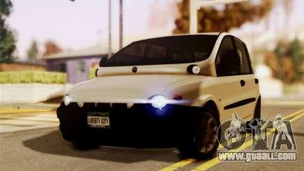 Fiat Multipla Black Bumpers for GTA San Andreas