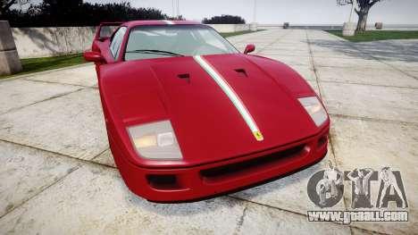Ferrari F40 1987 [EPM] Tricolore for GTA 4