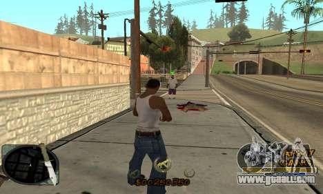 C-HUD Army Gang for GTA San Andreas forth screenshot