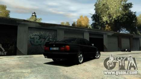 BMW M5 E34 1995 for GTA 4 back view
