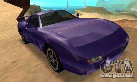Beta ZR-350 for GTA San Andreas upper view