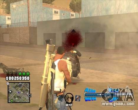 C-HUD Big Cull for GTA San Andreas third screenshot