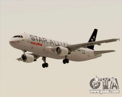 Airbus A320-200 Air India (Star Alliance Livery) for GTA San Andreas side view