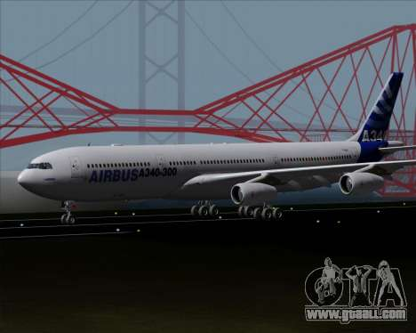 Airbus A340-300 Airbus S A S House Livery for GTA San Andreas left view