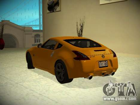 Nissan 370 Z Z34 2010 Tunable for GTA San Andreas back left view