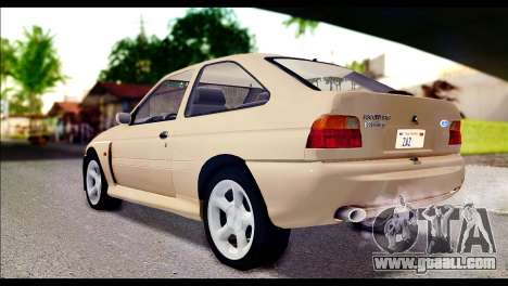 Ford Escort RS Cosworth [HQLM] for GTA San Andreas left view