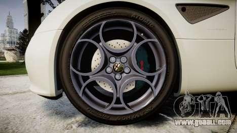 Alfa Romeo 8C Competizione 2008 for GTA 4 back view