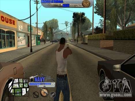 C-HUD Navy - ВМФ for GTA San Andreas third screenshot