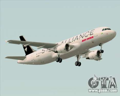 Airbus A320-200 Air India (Star Alliance Livery) for GTA San Andreas back view