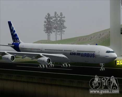 Airbus A340-300 Airbus S A S House Livery for GTA San Andreas wheels