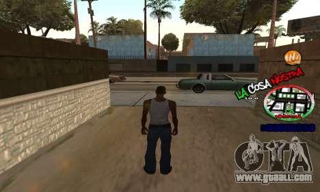 C-HUD La Cosa Nostra for GTA San Andreas