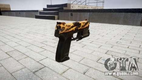 Gun HK USP 45 tiger for GTA 4 second screenshot
