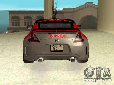 Nissan 370 Z Z34 2010 Tunable for GTA San Andreas engine