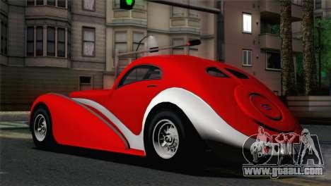 GTA V Truffade Z-Type [IVF] for GTA San Andreas left view