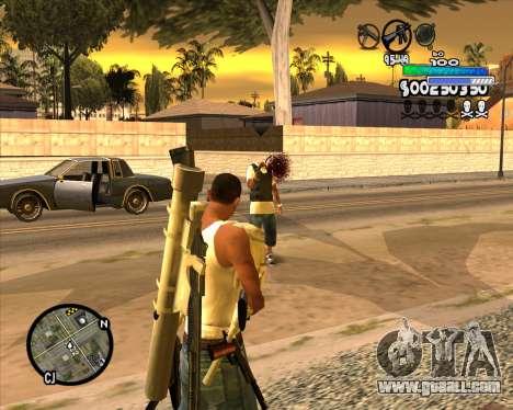 С-HUD Metro for GTA San Andreas third screenshot